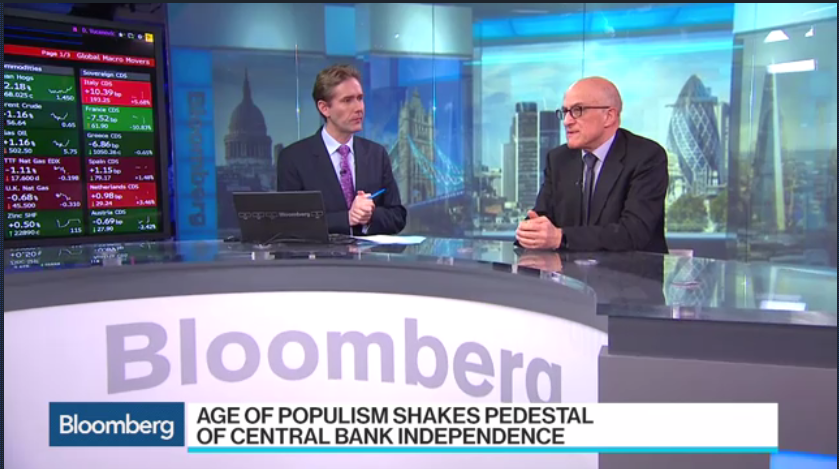 Bloomberg:Bruegel's Papadia Sees Central Bank Independence Threats